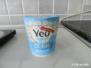 I used Yeo Valley yogurt as it had 0% fat